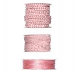 Kordelband - rosa in drei Größen