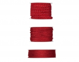Kordelband - rot in drei Größen