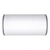 Kranzband weiß mit schwarzem Randstreifen 200mm25m