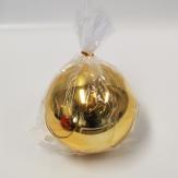 Christbaumkugel Kunststoff bruchfest gold 14cm (1St)