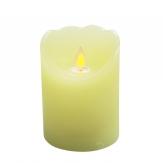 LED-Kerze aus Wachs creme mit Flackerdocht Timer 10cm 1Stk