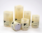 LED-Kerze aus Wachs creme Batteriebetrieb Timer in verschiedenen Größen