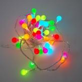 LED Kugellichterkette für innen 40 Lichter bunt 1Stk