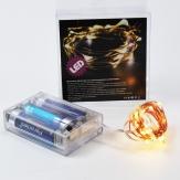 LED Kupferdraht Lichterkette 50 Lichter 5m