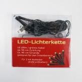 10er LED-Lichterkette grünes Kabel Batteriebetrieb für Innen