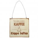 Metallschild Kaffee, zum Hängen creme-braun 20x15cm 1Stk