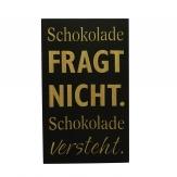 Metallschild Schokolade 25x15cm 3Stk