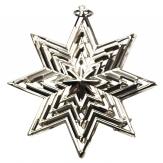 Metallstern modern silber 7cm 15Stk