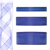 Dekoband Organza blau 50m in drei Größen