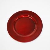 Platte / Teller rot rund mit breitem Rand Ø17cm