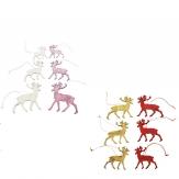 Rentiere zum Aufhängen 7x5cm in verschiedenen Farben 36Stk