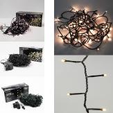 LED Rice lights Lichterketten schwarzes Kabel verschied. Größen indoor&outdoor