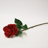 Seidenblumen - Seidenrosen rot 42cm 6Stk