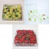 Seidenblumen - Künstliche Rosenblätter in drei Farben  40mm 133Stk