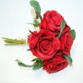 Rosenstrauß mit 7 roten Rosen 25 cm