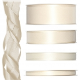 Satinband creme 50m in verschiedenen Größen