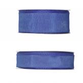 Satinband - Drahtkante blau 25m in zwei Größen