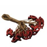 Schaukelpferdhänger rot 3cm 16Stk