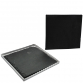 Schieferplatte 15x15cm dunkelgrau 2Stk