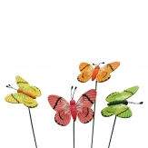 Blumenstecker Schmetterling bunt 8x6cm 16Stk