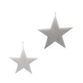 Schnee-Sterne zum Hängen in zwei Größen 1Stk