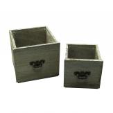 Schublade grau 17x16 und 13x12cm 1Set