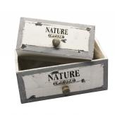 Schublade grau-weiß 23x16x10cm 2Stk