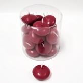 Schwimmkerzen bordeaux-rot 4,5 cm 20 Stück