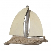 Segelboot aus Holz natur 19cm 6Stk