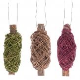 Spindel mit Kordelband in verschiedenen Farben 20m