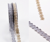 Spitzenband gold oder silber 10mm8m