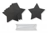 Tafelsticker Sterne schwarz 8cm 15Stk