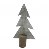 Metall-Tannenbaum grau-weiß 30cm 1Stk