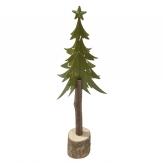 Metall-Tannenbaum grün 33cm 1Stk