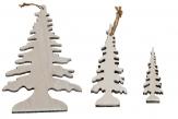 Tannenbaum zum Hängen natur-weiß in drei Größen
