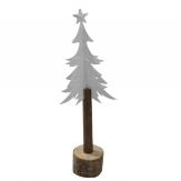 Metall-Tannenbaum weiß 33cm 1Stk