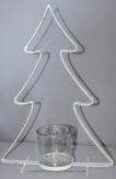 Metall-Tannenbaum weiß 35cm 1Stk