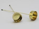 Teelichthalter zum Stecken gold 42mm 4Stk