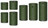 Kranzband grün - dunkelgrün in verschiedenen Breiten  25m auf der Rolle