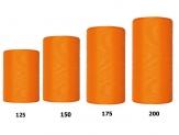 Kranzband orange in verschiedenen Breiten  25m  auf der Rolle