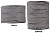 Plissee Taft grau-grau in versch. Breiten 10m