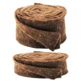 Wollband Lehner Wolle braun-braun in 2 Größen