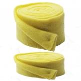 Wollvlies Topfband Lehner Wolle gelb - hellgelb in 2 Größen