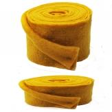 Wollband Lehner Wolle gelb - sonnengelb in 2 Größen