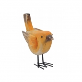 Vogel orange aus Holz 16cm 1Stk