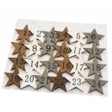 Wäscheklammern Sterne 5x5cm 24Stk