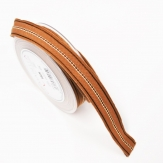 Weihnachtsband Leinen Julius braun 25mm15m