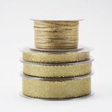 Weihnachtsband Brokat gold in verschiedenen Breiten