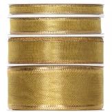 Weihnachtsband gold 25m in verschiedenen Breiten