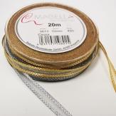 Weihnachtsband silber und gold 10mm20m
